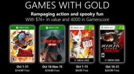 Estos son los Games with Gold para octubre de 2019