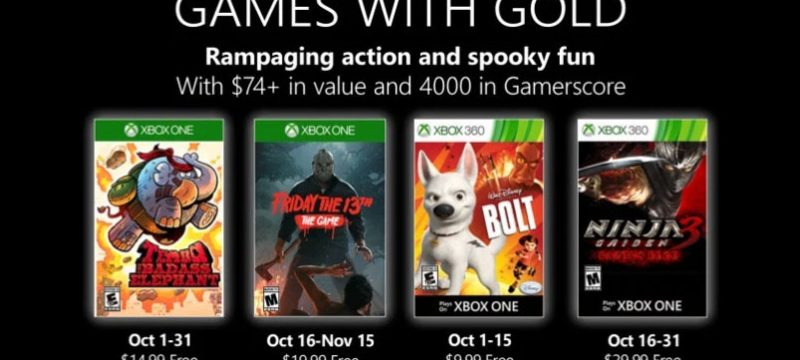 Games With Gold octubre 2019
