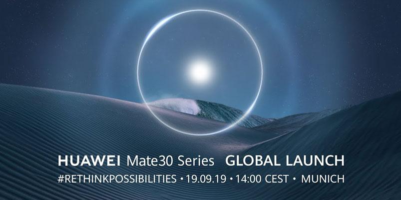 Disfruta de la presentación de la nueva Huawei Mate30 Series