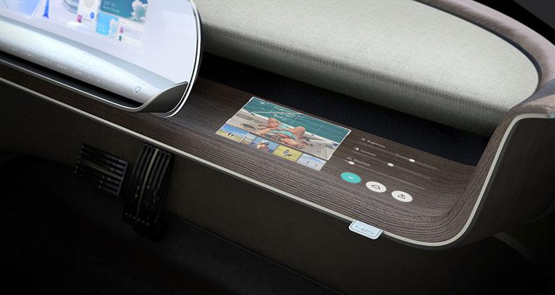 Hyundai 45 EV IAA 2019 tablero pasajero