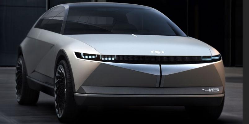 Hyundai 45 EV es un homenaje al Hyundai Pony Coupe Concept