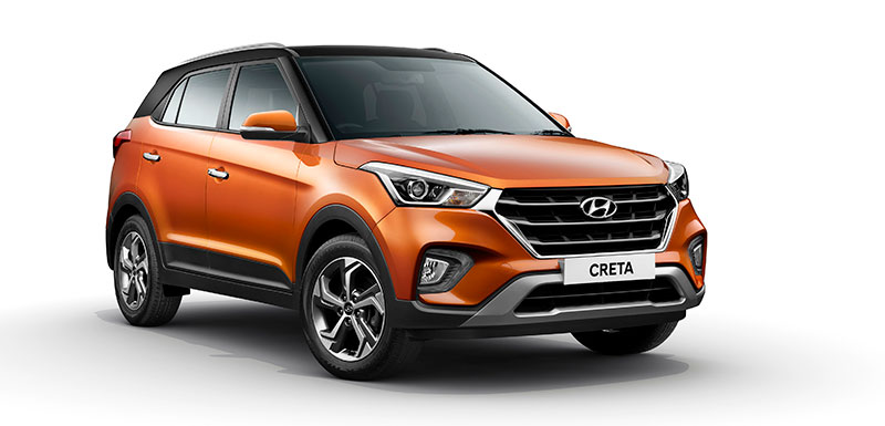 Hyundai Creta 2019 Orange Black