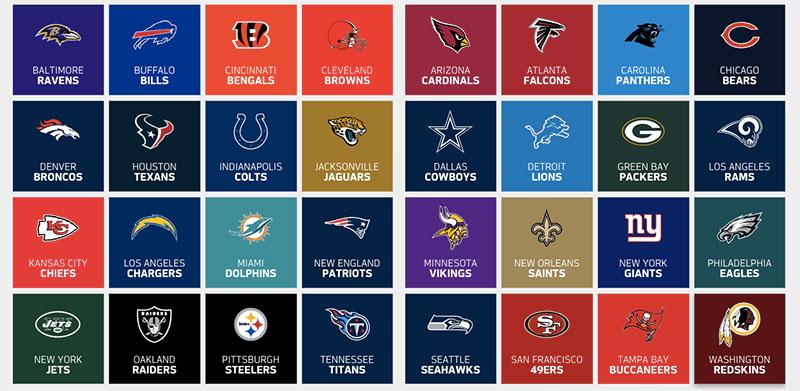 NFL equipos logo