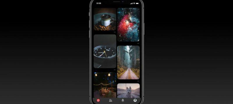 Tema oscuro Pinterest iOS