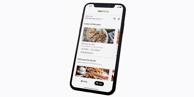 Uber Eats nueva interfaz