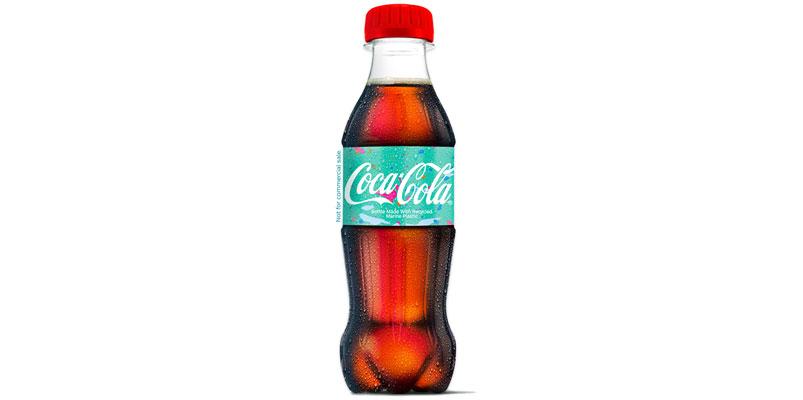 Coca-Cola botella plastico mar