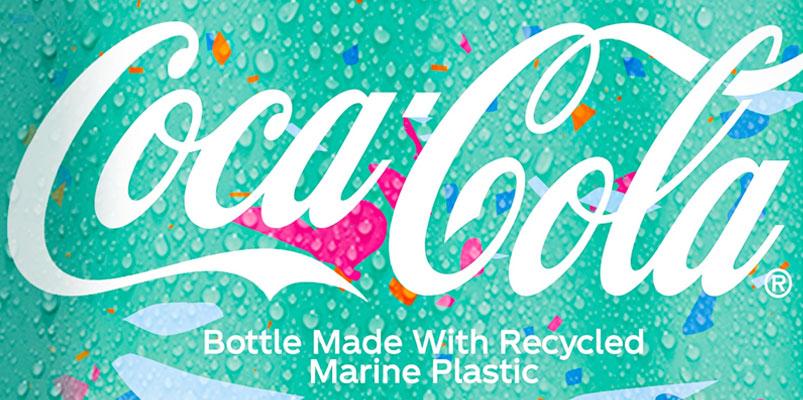 Coca-Cola presenta una botella hecha con plástico recuperado del mar