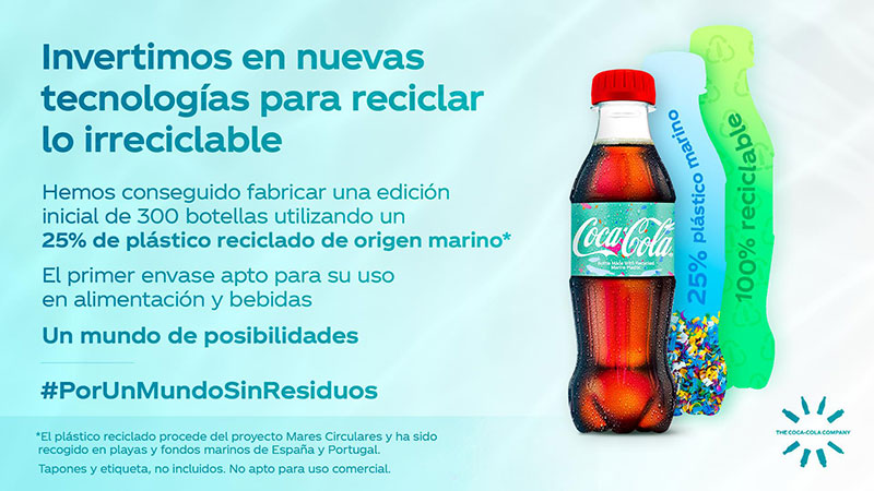 Coca-Cola plastico oceano reciclado