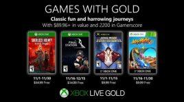 Xbox presenta los Games with Gold de noviembre 2019