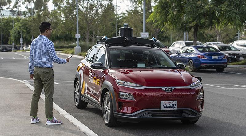 Hyundai KONA autonomo BotRide app