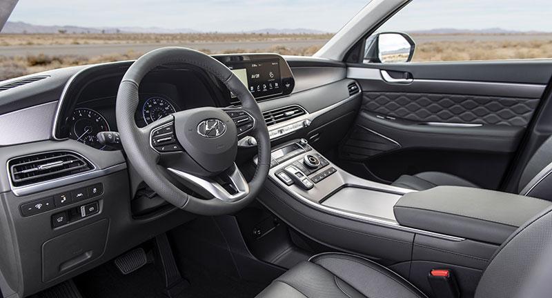 Hyundai Palisade 2020 interior WardsAuto