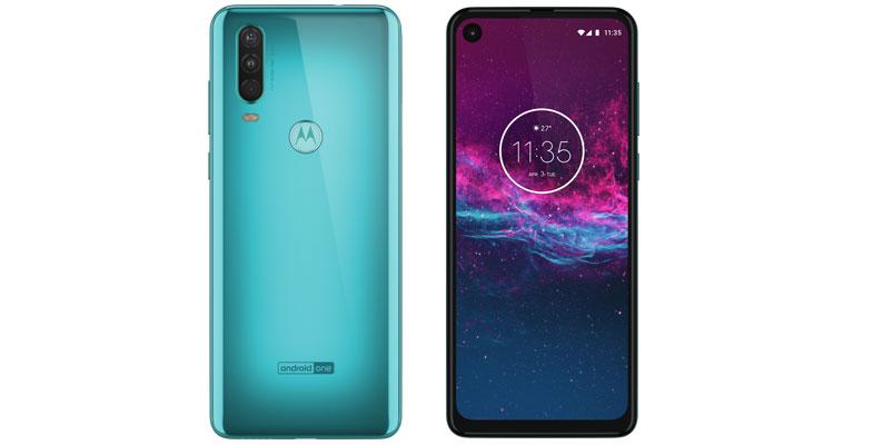 Motorola One Action Aqua frente