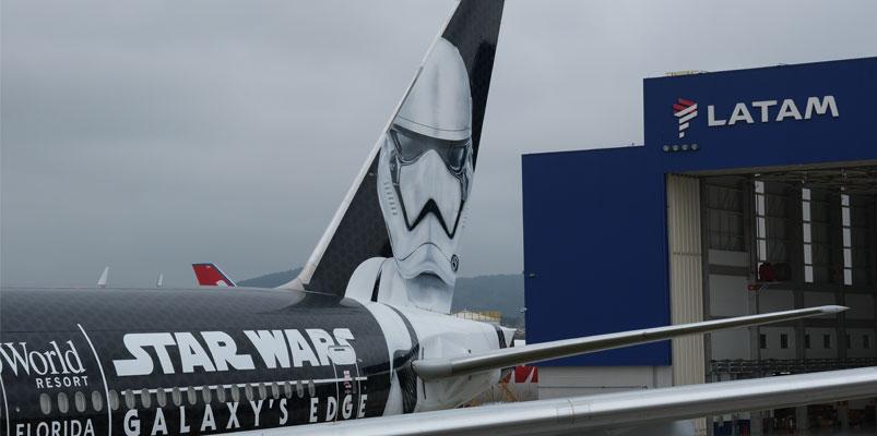 Así es el Stormtrooper Plane, el avión de LATAM Airlines Group y Star Wars