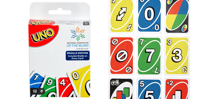 Mattel presenta UNO Braille, el juego para personas con discapacidad visual