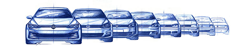 Volkswagen Golf 2020 bocetos exterior