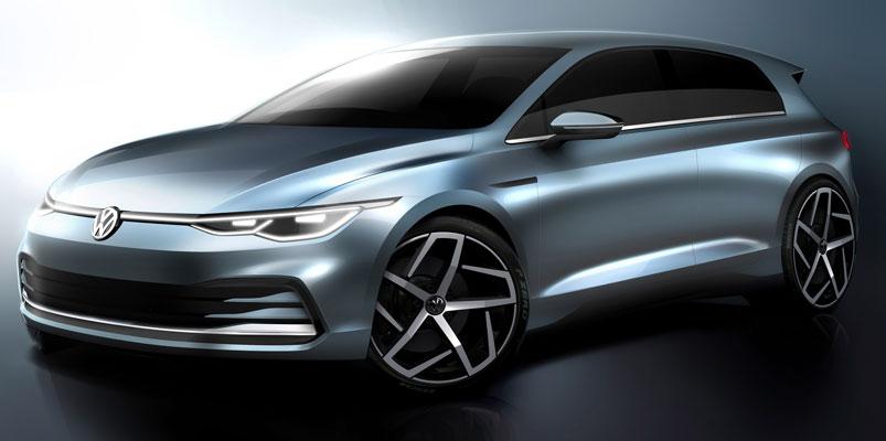 Las primeras imágenes del nuevo Volkswagen Golf 2020