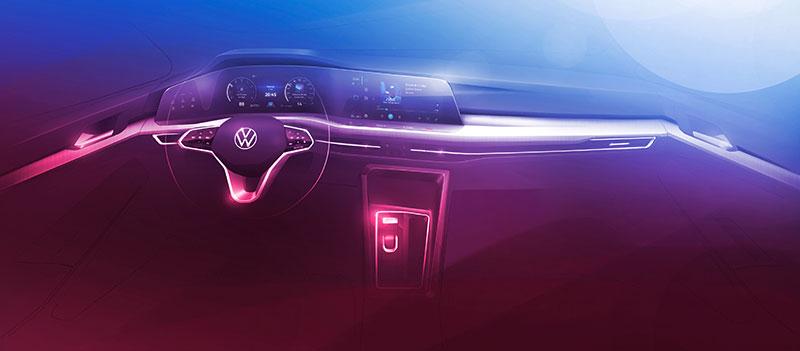 Volkswagen Golf 2020 interior boceto