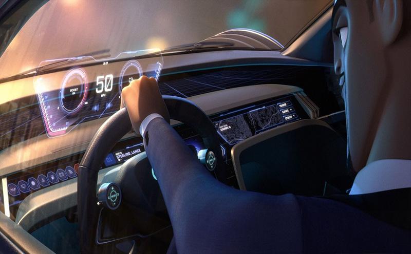 Audi RSQ e-tron Lance Sterling tablero