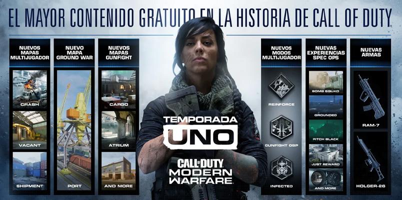 Prepárate para el mayor contenido gratuito en un Call of Duty