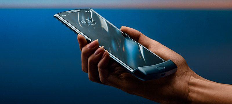 Motorola RAZR plegable abierto