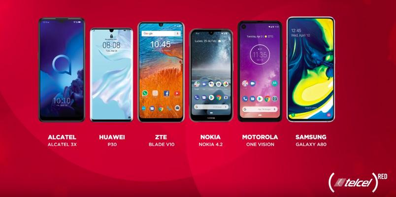 Estos son los smartphone edición especial (Telcel)RED 2019