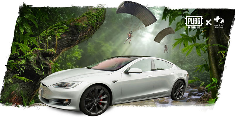 Gana un Tesla Model S cortesía de PUBG MOBILE y Omaze