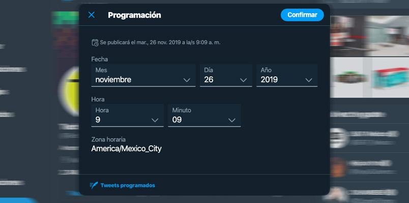 Twitter tuis programados