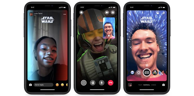 Facebook Messenger con tema, stickers y más de Star Wars: Episodio IX