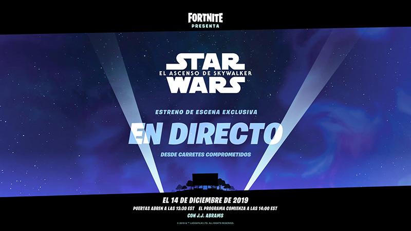 Fortnite Star Wars Episodio IX 14 diciembre