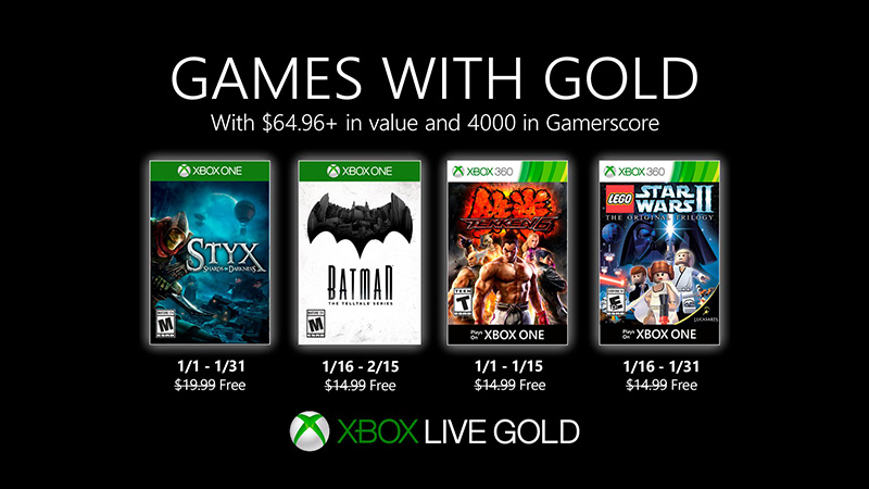 Games With Gold enero 2020