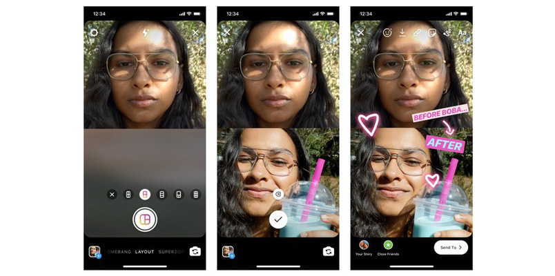 Instagram ahora te deja crear collages en tus Historias
