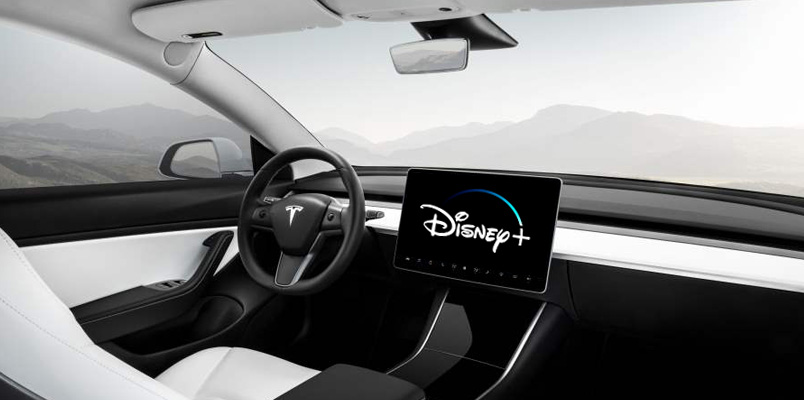 Los vehículos de Tesla podrán disfrutar del contenido de Disney+