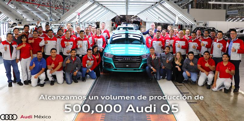 Audi logra producir 500,000 unidades de Audi Q5 en México