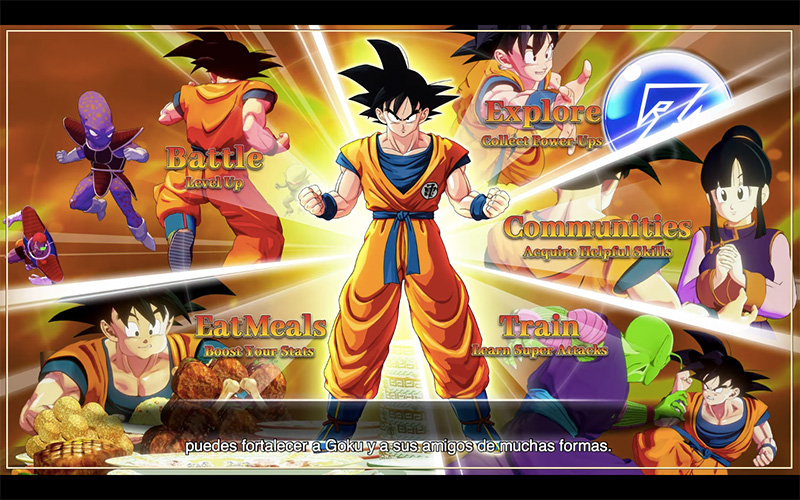 Dragon Ball Z Kakarot progresion Goku