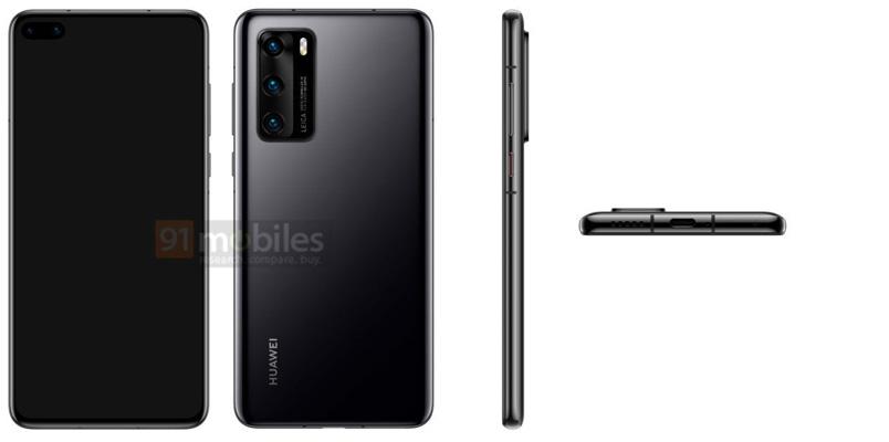Huawei P40 renders leak