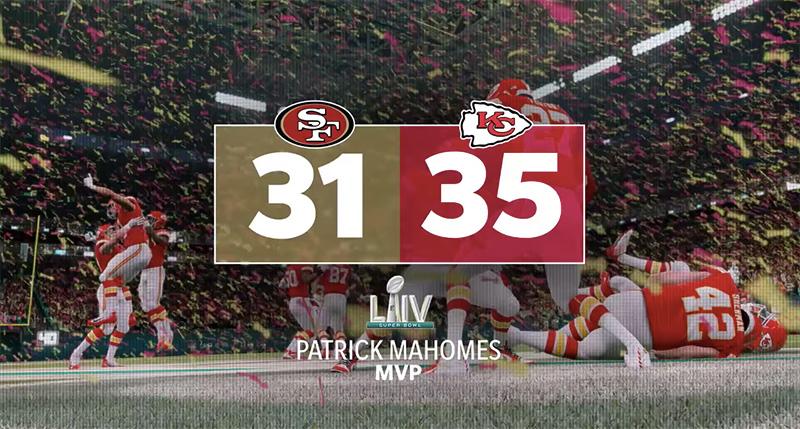 Madden NFL 20 macador Super Bowl LIV