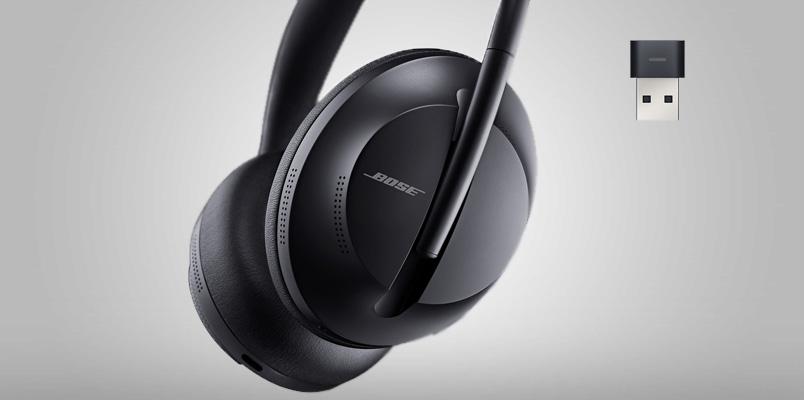 Los audífonos Bose 700 UC son pensados para tus conferencias