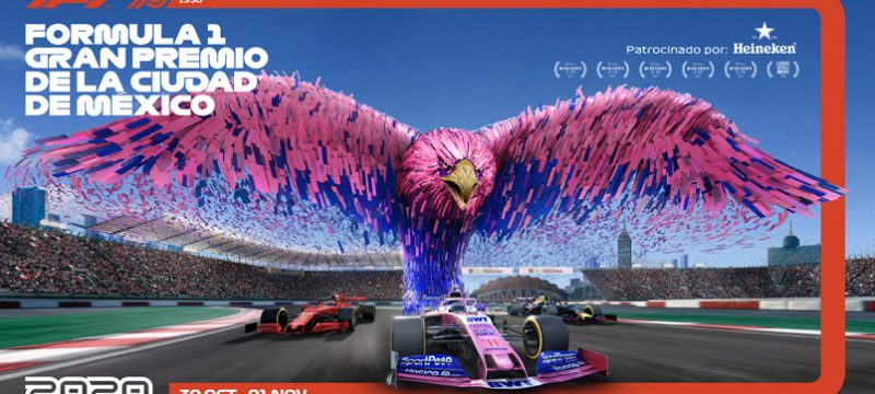 Formula 1 Gran Premio de Mexico 2020 poster Racing Point