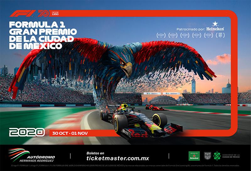 Formula 1 Gran Premio de Mexico 2020 poster Red Bull