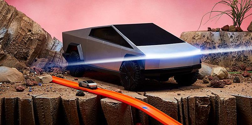 Hot Wheels Tesla Cybertruck Edicion Limitada y 3 pulgadas