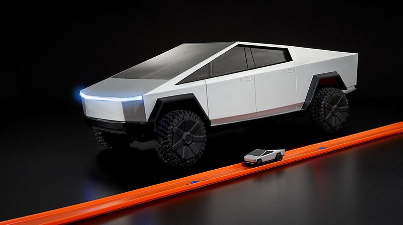 Hot Wheels Tesla Cybertruck electrico