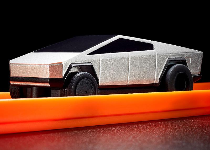 Hot Wheels Tesla Cybertruck pista 3 pulgada frente