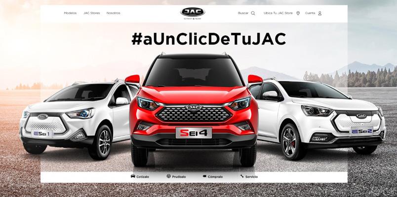 Ahora puedes comprar un vehículo JAC desde tu computadora