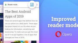 Opera 56 para Android presenta un modo de lectura mejorado