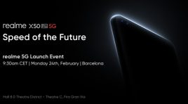 realme X50 Pro 5G se presentará en Mobile World Congress 2020