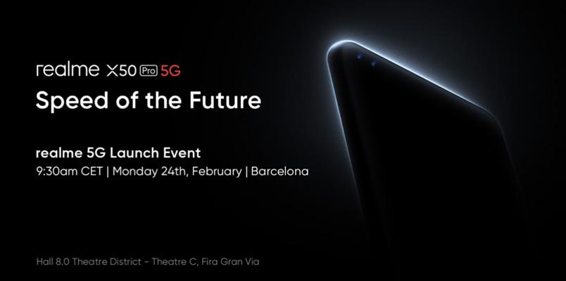 realme X50 Pro 5G se presentará en Mobile World Congress 2020