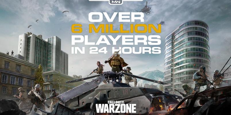 Call of Duty: Warzone ya supera los 6 millones de jugadores