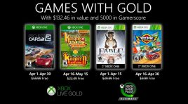 Coches y aventuras en los Games with Gold de abril 2020