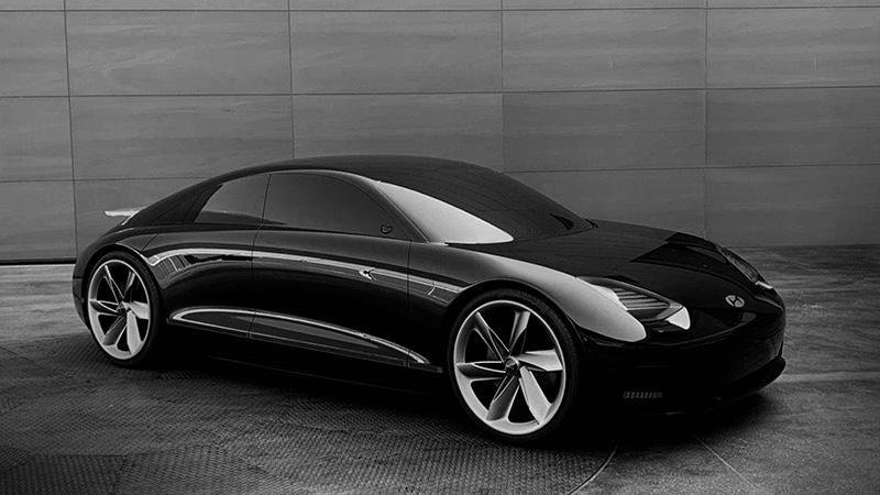 Hyundai Concept EV Prophecy costado