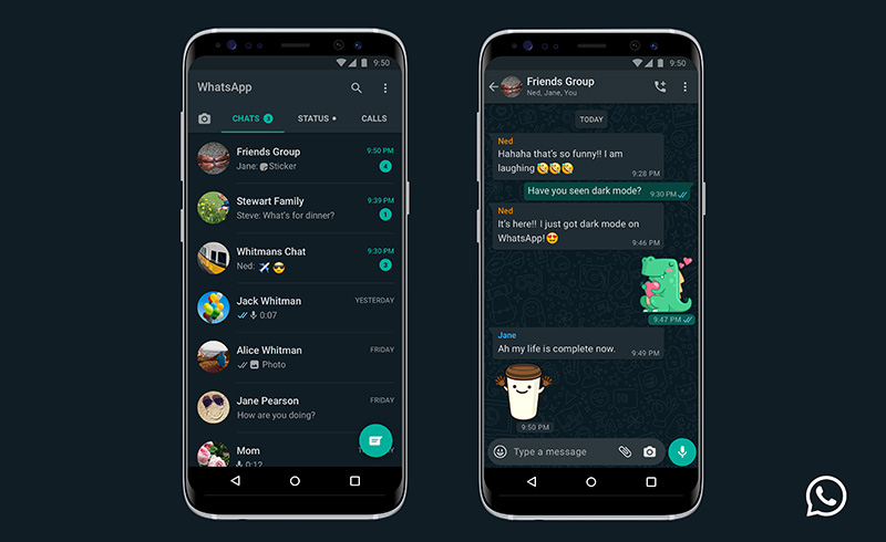 WhatsApp Android modo oscuro